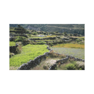 A beautiful country scene from Nepal. Canvas Print