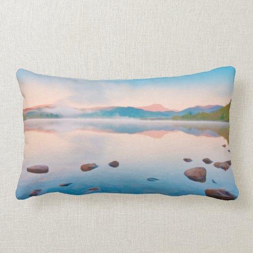 A Beautiful Sunrise On Rannoch Moor In Scotland Wi Throw Pillows