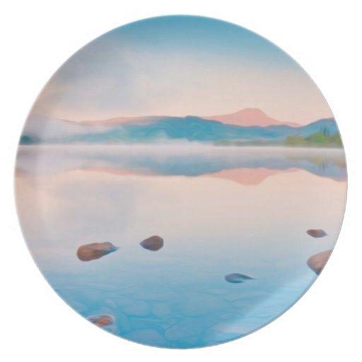 A Beautiful Sunrise On Rannoch Moor Party Plates