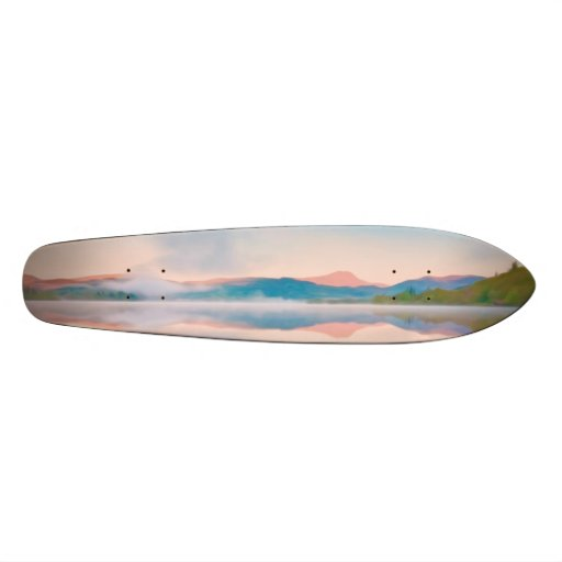 A Beautiful Sunrise On Rannoch Moor Skateboard Deck