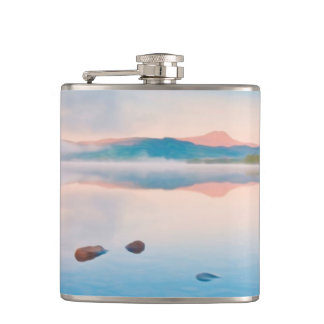 A Beautiful Sunrise On Rannoch Moor Hip Flask