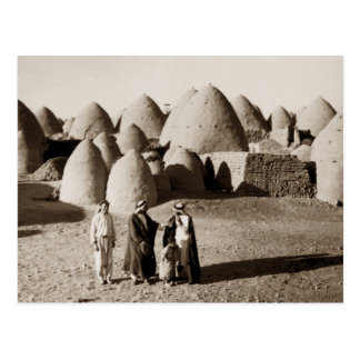 A beehive village beyond Aleppo in Syria Postcard