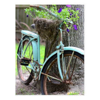 A Bicycle in the Garden Postcard