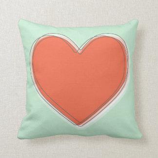 A Big Heart Throw Pillows