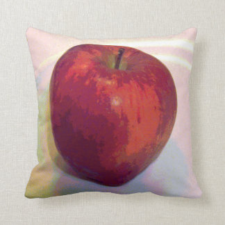 A Big Red Apple Throw Pillow