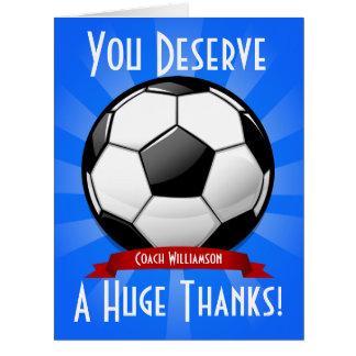 A Big Soccer Ball Giant Thank You Card