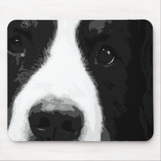 A black and white Bernese mountain dog Mouse Pad