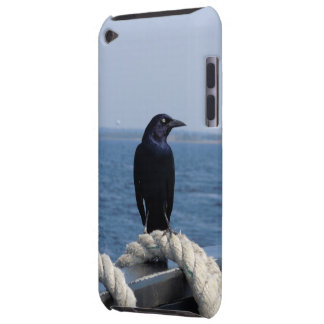 A Black Bird on the Ferry Barely There iPod Cover