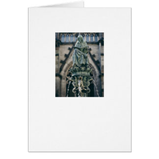 A Blank Note Card with A Fountain