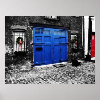 a blue door canvas poster - standard size