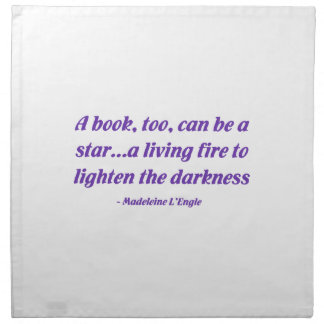 A Book Too Can Be A Star Cloth Napkin
