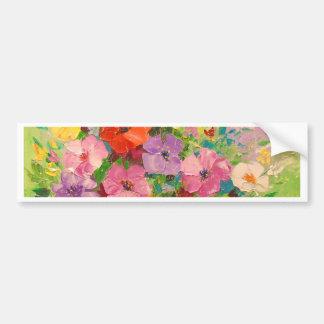 A bouquet of wild flowers bumper sticker