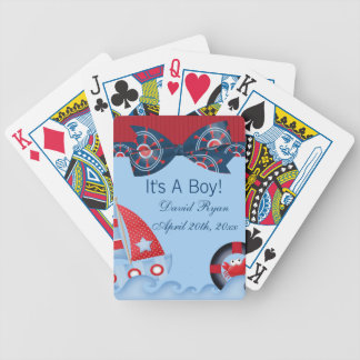 A Boys Sea Life Baby Shower Bicycle Playing Cards