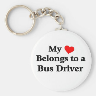 A bus driver has my heart basic round button key ring
