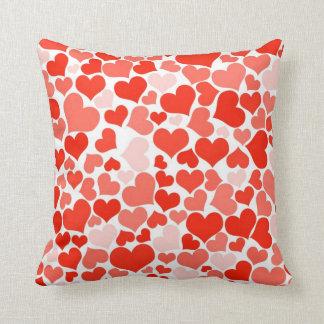 A Cascade of Love -  Hearts Pattern Pillows