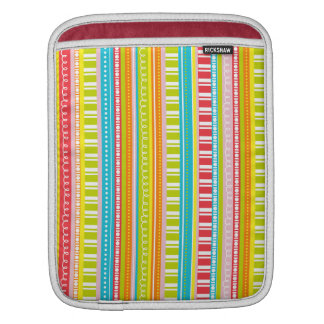 A Celebration of Stripes in Rainbow Colors iPad Sleeve