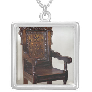 A Charles I armchair, mid 1600s Silver Plated Necklace