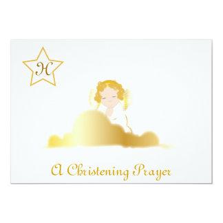 A Christening Prayer Monogram Invitation -Cust.