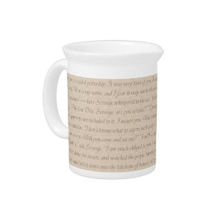 A Christmas Carol Quote Pitcher