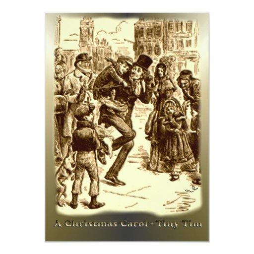 A Christmas Carol - Tiny Tim 13 Cm X 18 Cm Invitation Card