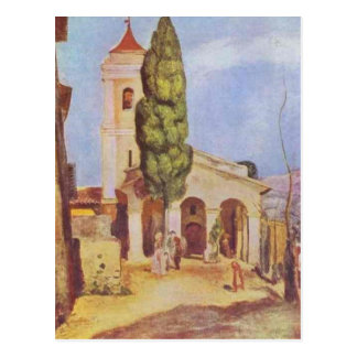 A Church at Cagnes by Pierre-Auguste Renoir Postcard