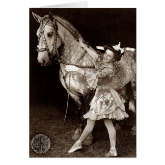 A Circus Girl and Horse Greeting Card