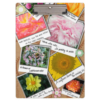 A Collage of Flowers Clipboards