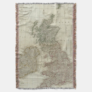 A complete map of the British Isles Throw Blanket