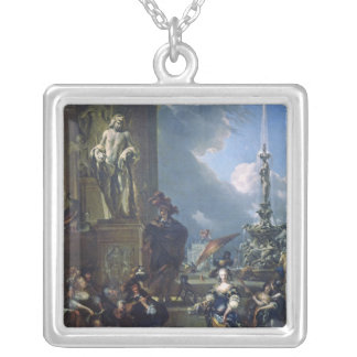 A Concert in a Public Square Silver Plated Necklace