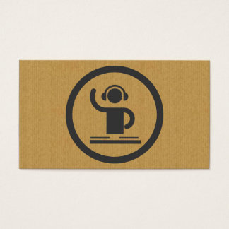 A cool cardboard DJ icon business card