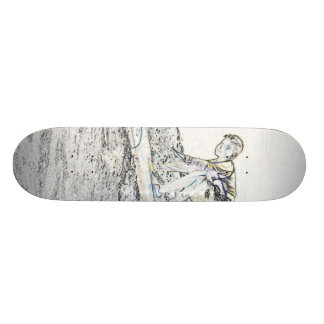 A Cool Surf board Custom Skate Board
