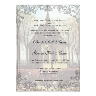 A country church wedding invitation custom announcements