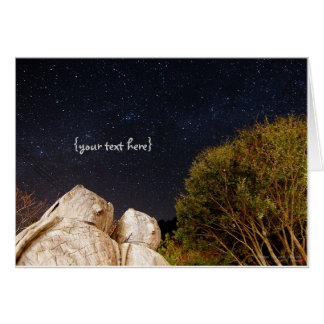 A Couple of Owls in Smangus Tribe under Milky Way. Card
