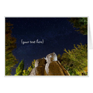 A Couple of Owls in Smangus Tribe under Milky Way. Greeting Card