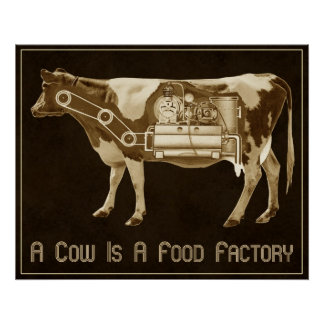 A Cow Is A Food Factory - More Milk For Victory Poster