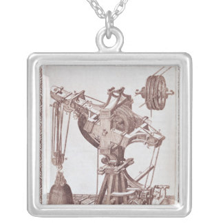 A Crane Silver Plated Necklace