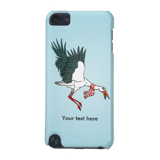 A Crane Wearing A Striped Winter Scarf iPod Touch (5th Generation) Cover