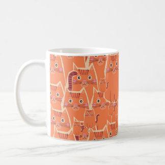 A Crowd of Cute Orange Tabby Cats Coffee Mug