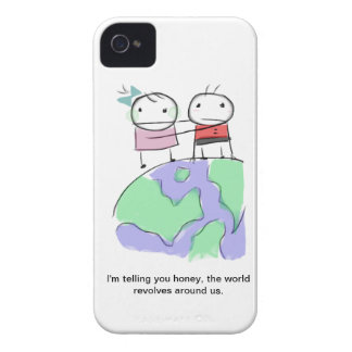 A cute earth-loving doodle by Monsterize iPhone 4 Cases