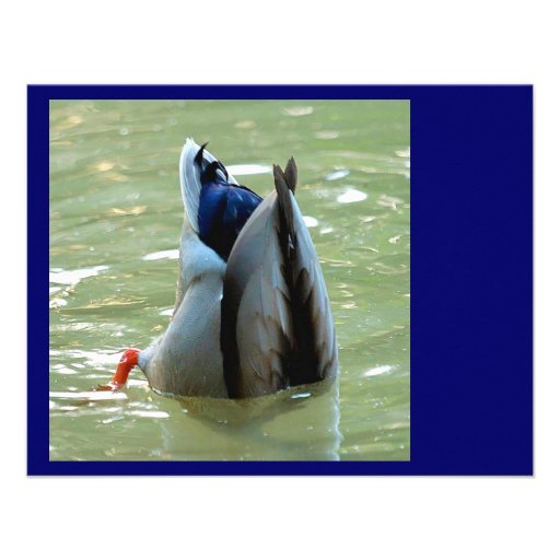 A Dabbling Duck Personalized Invitations