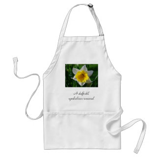 A daffodil symbolizes renewal standard apron