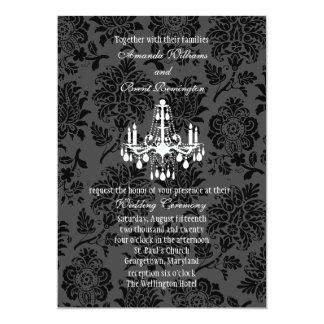 "A Damask Victorian Wedding Invitation 5"" X 7"" Invitation Card"