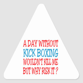 A Day Without Kick Boxing Wouldn t Kill Me Triangle Sticker