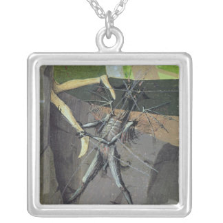 A Demon, from the 'Coronation of the Virgin' Silver Plated Necklace