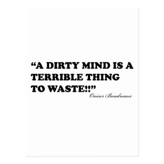 A Dirty Mind Is A Terrible Thing To Waste Postcard