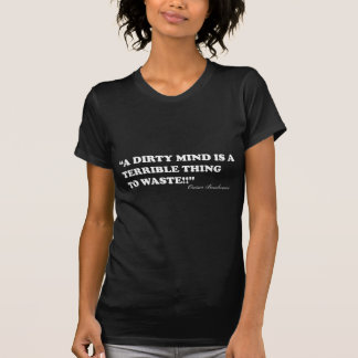 A Dirty Mind Is A Terrible Thing To Waste Tee Shirts