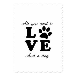 A Dogs Love Card