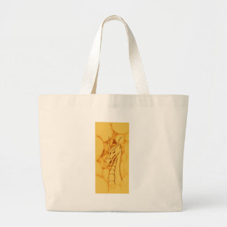 A Dragon Wreathed in Smoke (Bronze) Large Tote Bag