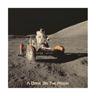 A Drive On The Moon Wood Canvases