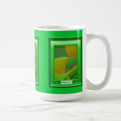 A feast of colour, Green baubles Mug